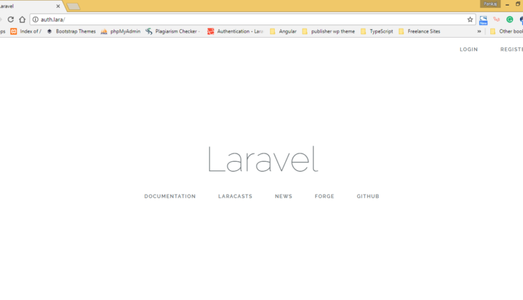 Laravel Default Authentication