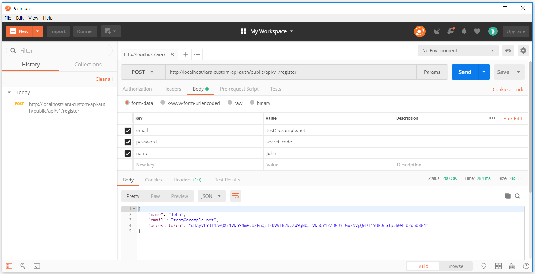 Laravel 5 6 Custom Token Base API Authentication - Code Briefly